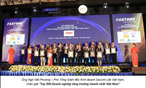 Dai Ichi Life Việt Nam tiếp tục lọt top 500 doanh nghiệp phát triển nhanh nhất việt nam 2021
